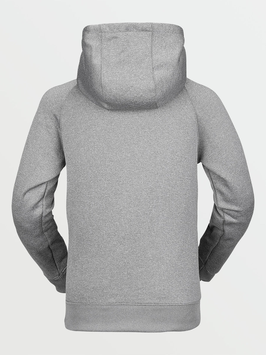 VOLCOM Riding Fleece Pullover Hoodie Youth Heather Grey KIDS APPAREL - Boy's Pullover Hoodies Volcom S