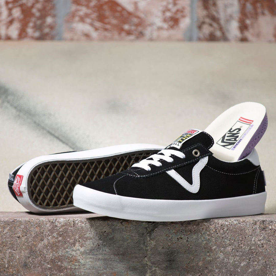VANS Skate Sport Shoes Black/White