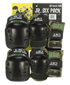 187 JUNIOR SIX PACK PAD SET CAMO SKATE SHOP - Skateboard Pads 187