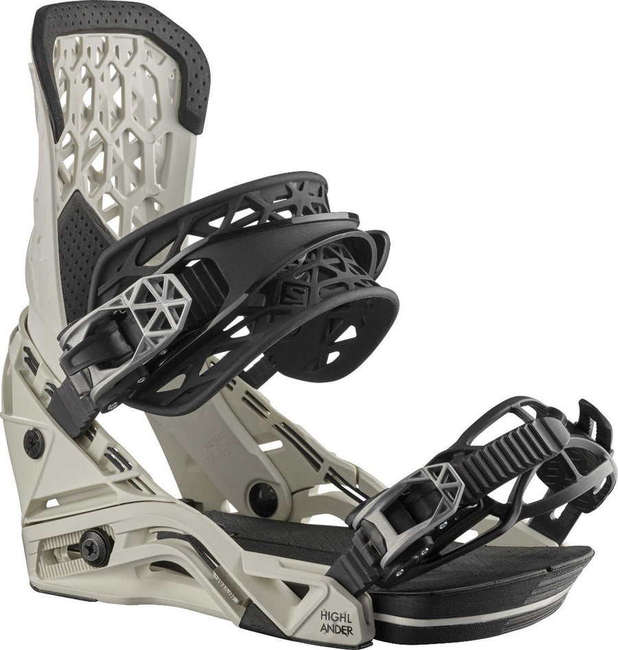 SALOMON Highlander Snowboard Bindings Sand 2021 SNOWBOARD BINDINGS - Men's Snowboard Bindings Salomon