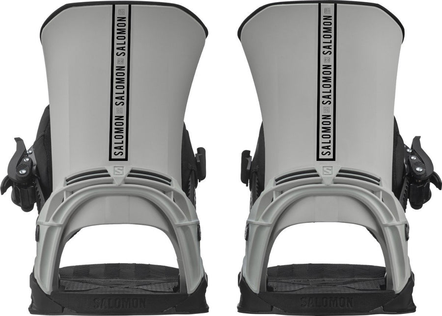 SALOMON District Snowboard Bindings Grey/Black 2021 SNOWBOARD BINDINGS - Men's Snowboard Bindings Salomon