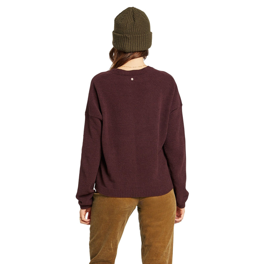 VOLCOM Situations Sweater Women's Black Plum WOMENS APPAREL - Women's Knits and Sweaters Volcom
