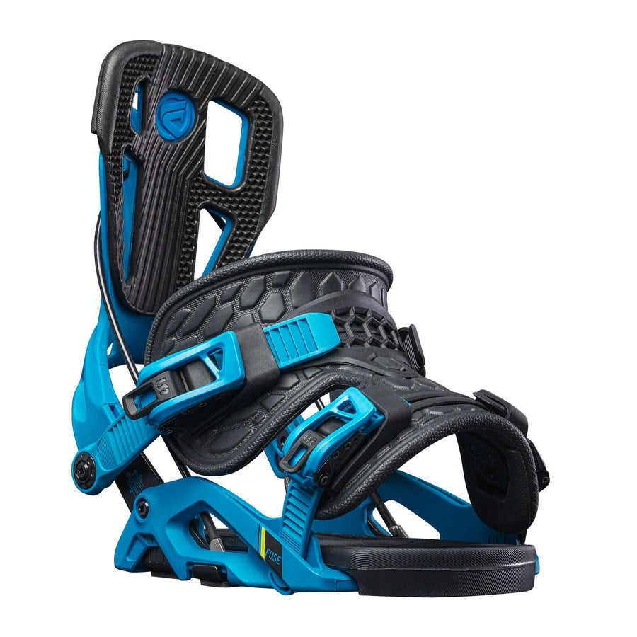 FLOW Fuse Fusion Snowboard Bindings Blue/Black 2021 SNOWBOARD BINDINGS - Men's Snowboard Bindings Flow