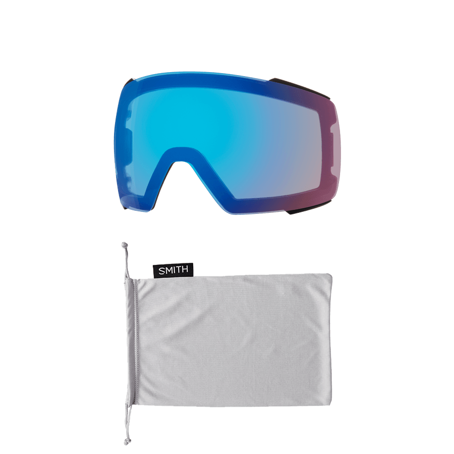 SMITH I/O Mag Black - ChromaPop Everyday Green Mirror + ChromaPop Storm Rose Flash Snow Goggle GOGGLES - Smith Goggles Smith