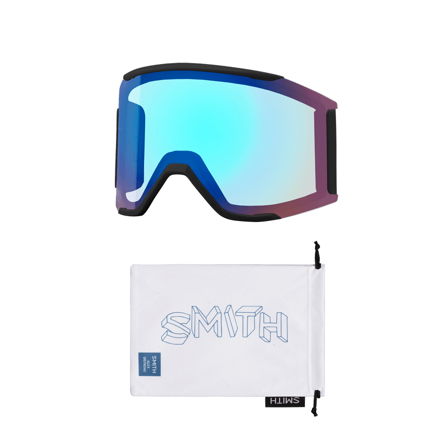 SMITH Squad MAG Alek Oestreng - ChromaPop Sun Black + ChromaPop Storm Rose Flash GOGGLES - Smith Goggles Smith