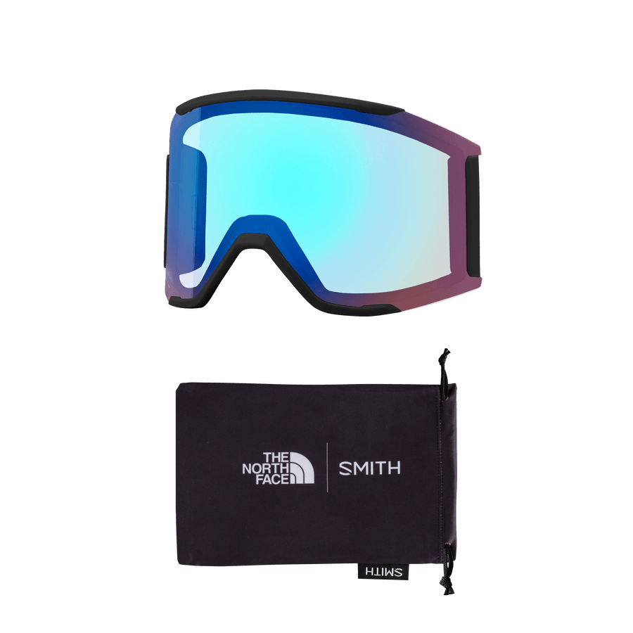 SMITH Squad MAG TNF Red X Smith ChromaPop Sun Platinum Mirror + Chromapop Storm Rose Flash Snow Goggle GOGGLES - Smith Goggles Smith