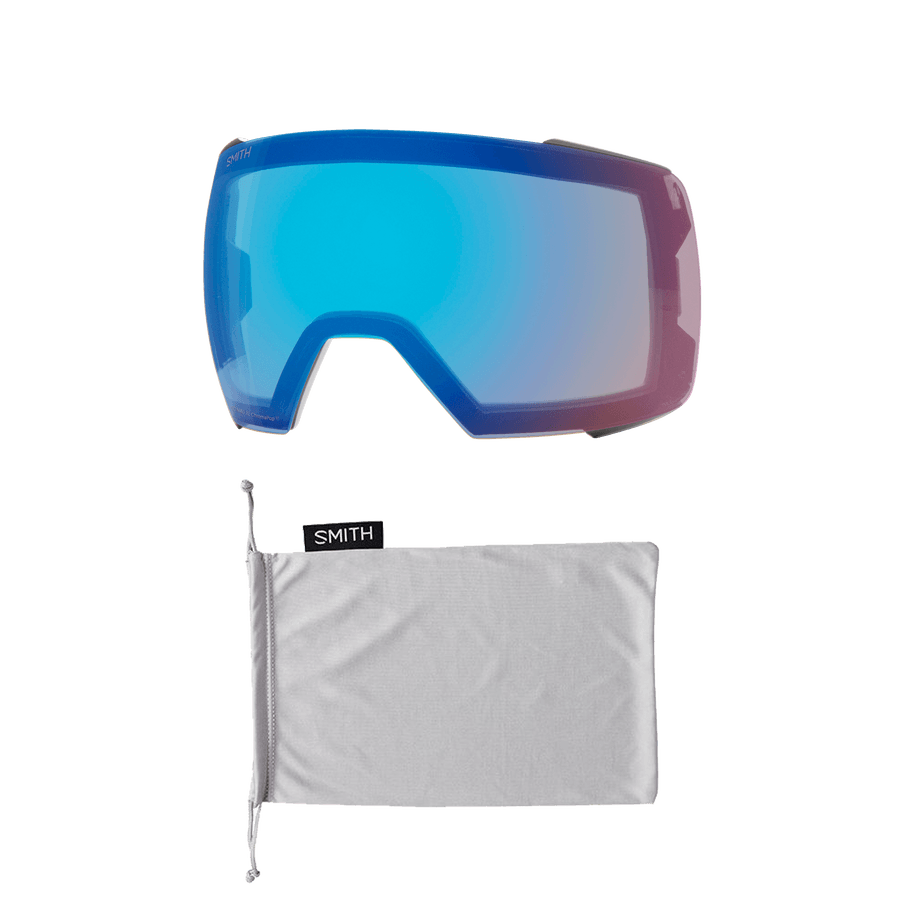 SMITH I/O MAG XL Sport White - ChromaPop Sun Green Mirror + ChromaPop Storm Rose Snow Goggle GOGGLES - Smith Goggles Smith