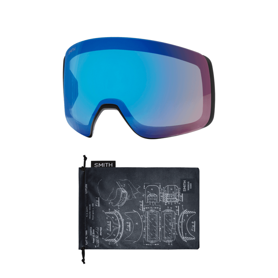 SMITH 4D MAG Markus Eder - ChromaPop Sun Black Gold Mirror + ChromaPop Storm Rose Flash Snow Goggle GOGGLES - Smith Goggles Smith