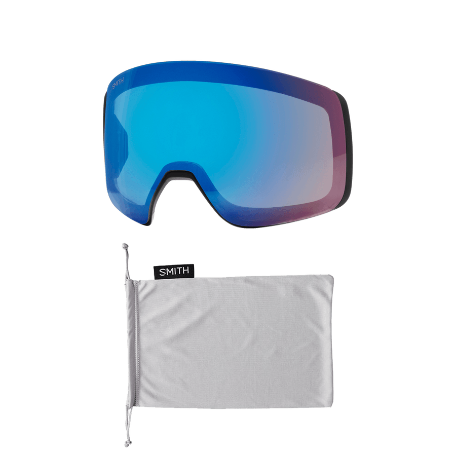 SMITH 4D Mag Black - ChromaPop Sun Green Mirror + ChromaPop Storm Rose Flash Snow Goggle GOGGLES - Smith Goggles Smith