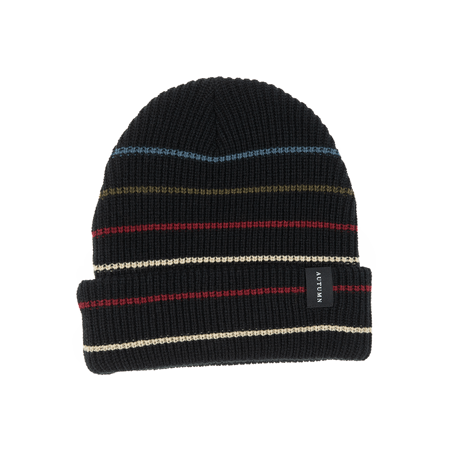 AUTUMN Select Multi Stripe Beanie Black