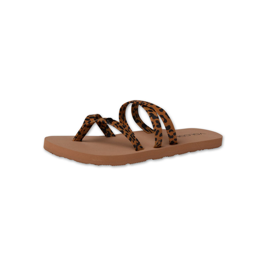 VOLCOM Easy Breezy Sandals Girls Cheetah FOOTWEAR - Youth Sandals Volcom 1