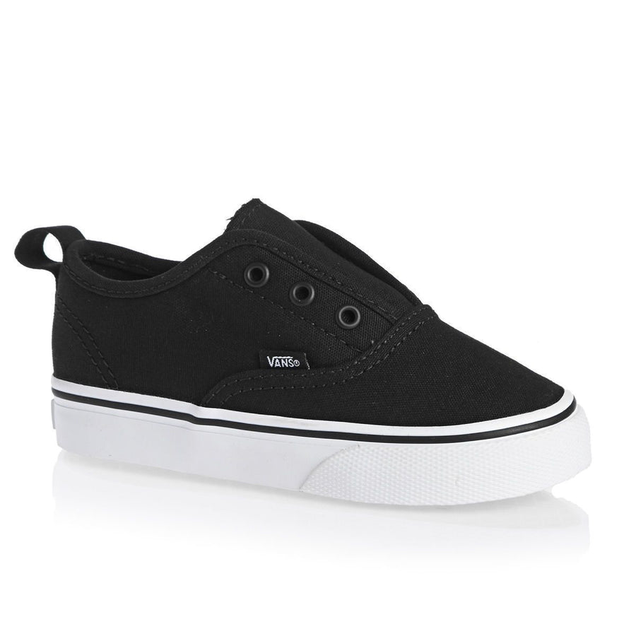 VANS Authentic V Shoes Toddler Black/True White FOOTWEAR - Youth and Toddler Skate Shoes Vans 10