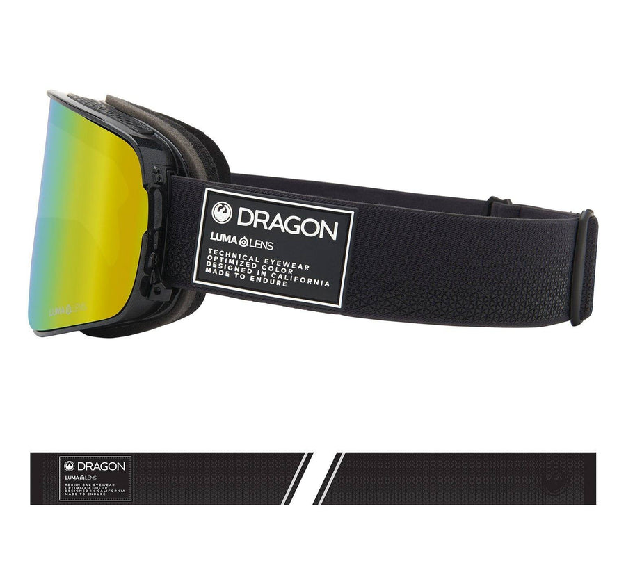 DRAGON NFX2 Anthracite - Lumalens Gold Ion + Lumalens Amber Goggle
