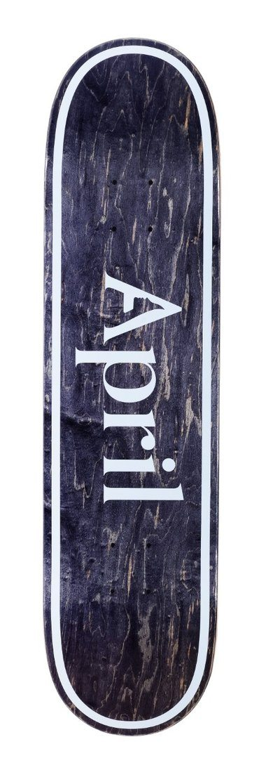 APRIL OG Logo Invert Black 8.0 Skateboard Deck SKATE SHOP - Skateboard Decks April