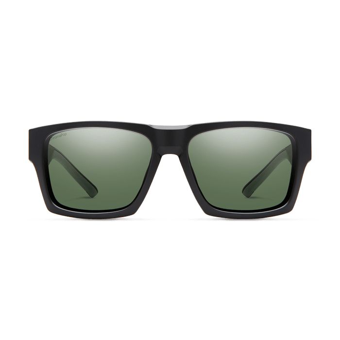 SMITH Outlier XL 2 Matte Black - ChromaPop Grey Green Polarized Sunglasses SUNGLASSES - Smith Sunglasses Smith