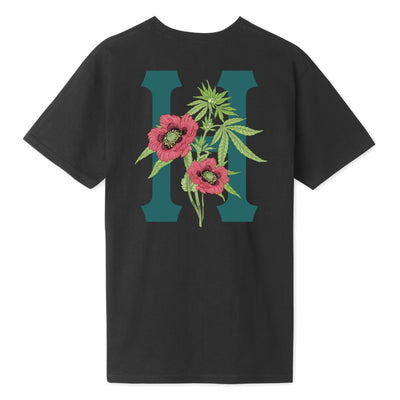 HUF Planta Classic H T-Shirt Black MENS APPAREL - Men's Short Sleeve T-Shirts huf