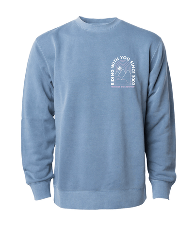 FREERIDE Ok Valley Crew Neck Women's Vintage Blue WOMENS APPAREL - Women's Knits and Sweaters Freeride Boardshop