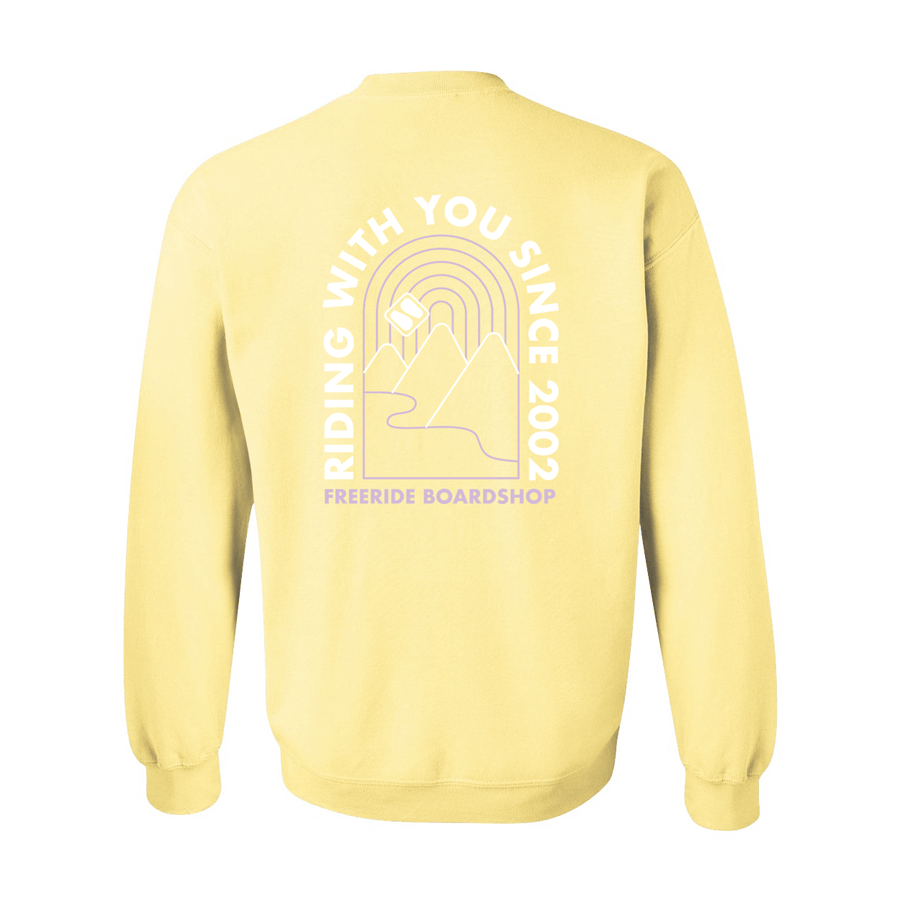 FREERIDE Ok Valley Crew Neck Women's Yellow WOMENS APPAREL - Women's Knits and Sweaters Freeride Boardshop