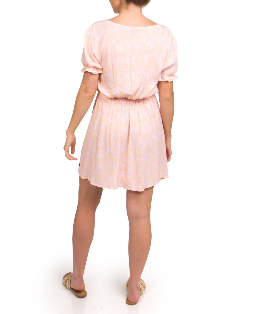 HURLEY Peasant Dress Women's Washed Coral Kula WOMENS APPAREL - Women's Dresses Hurley