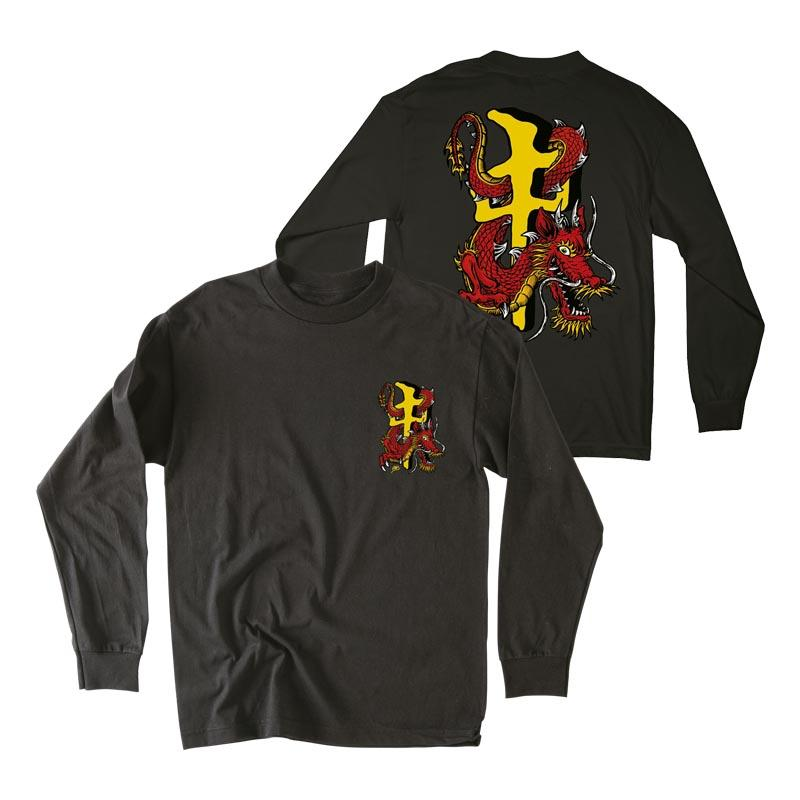 RDS RDS X Steve Caballero L/S T-Shirt Black/Gold MENS APPAREL - Men's Long Sleeve T-Shirts RDS