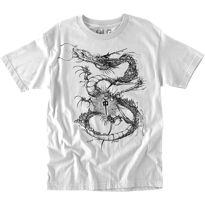 RDS Scent Dragon T-Shirt White MENS APPAREL - Men's Short Sleeve T-Shirts RDS M