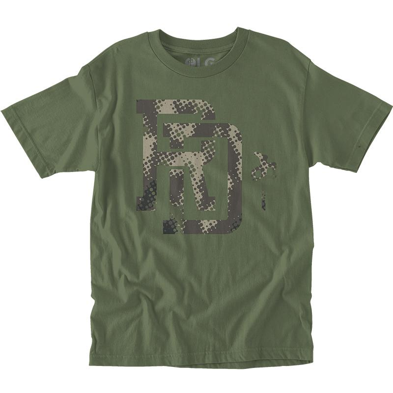 RDS Mono Camo T-Shirt Military Green MENS APPAREL - Men's Short Sleeve T-Shirts RDS
