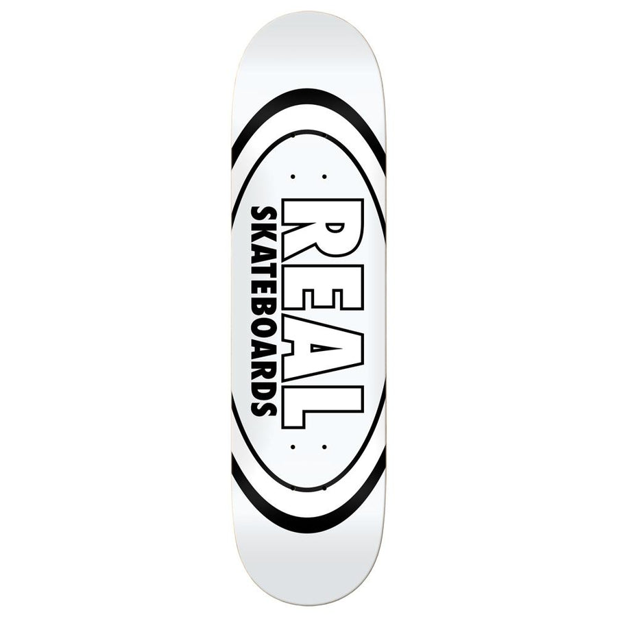 REAL Team Classic Oval White 8.38 Skateboard Deck SKATE SHOP - Skateboard Decks Real