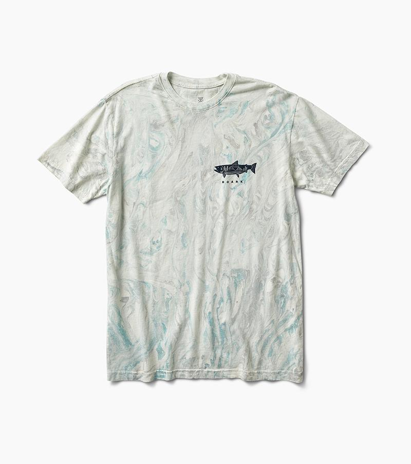 ROARK Salmon Mountain T-Shirt Marine MENS APPAREL - Men's Short Sleeve T-Shirts Roark Revival