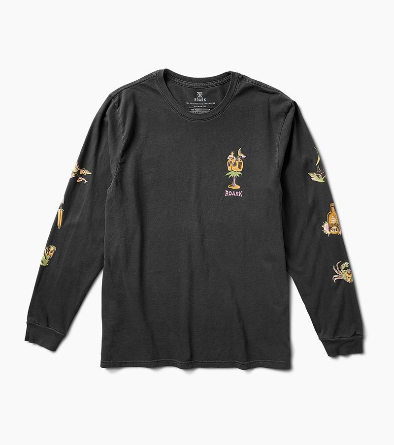 ROARK Sailors Journey Long Sleeve T-Shirt Black MENS APPAREL - Men's Long Sleeve T-Shirts Roark Revival