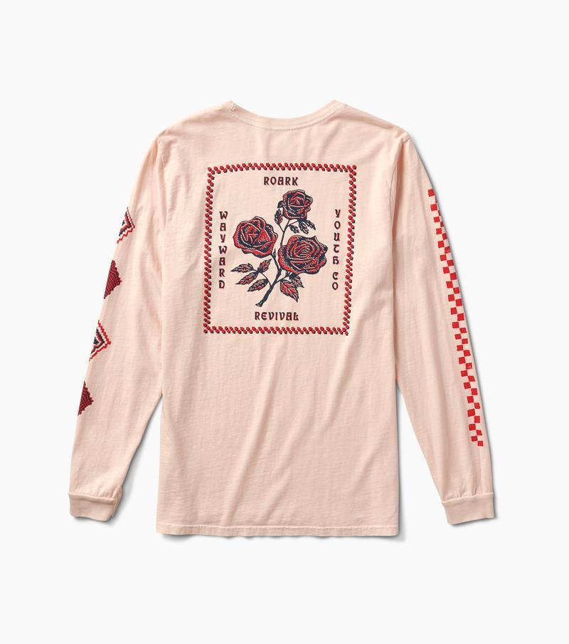 ROARK La Rosa Premium Long Sleeve T-Shirt Faded Pink MENS APPAREL - Men's Long Sleeve T-Shirts Roark Revival M