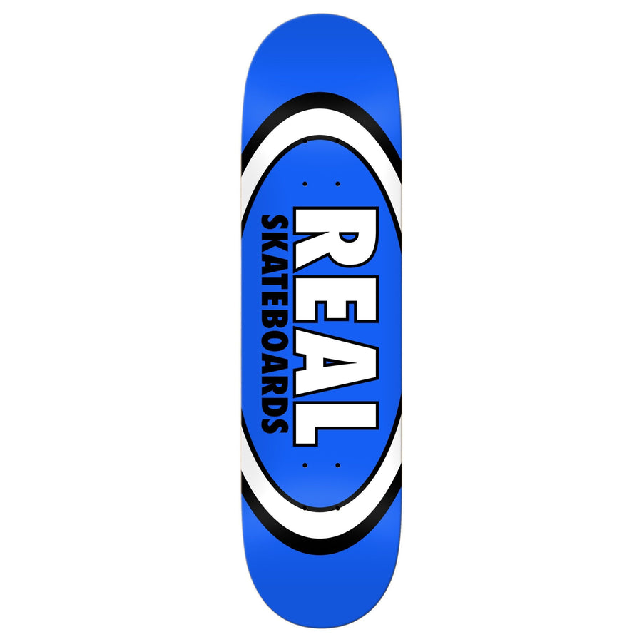 REAL Team Classic Oval Blue 8.5 Skateboard Deck SKATE SHOP - Skateboard Decks Real