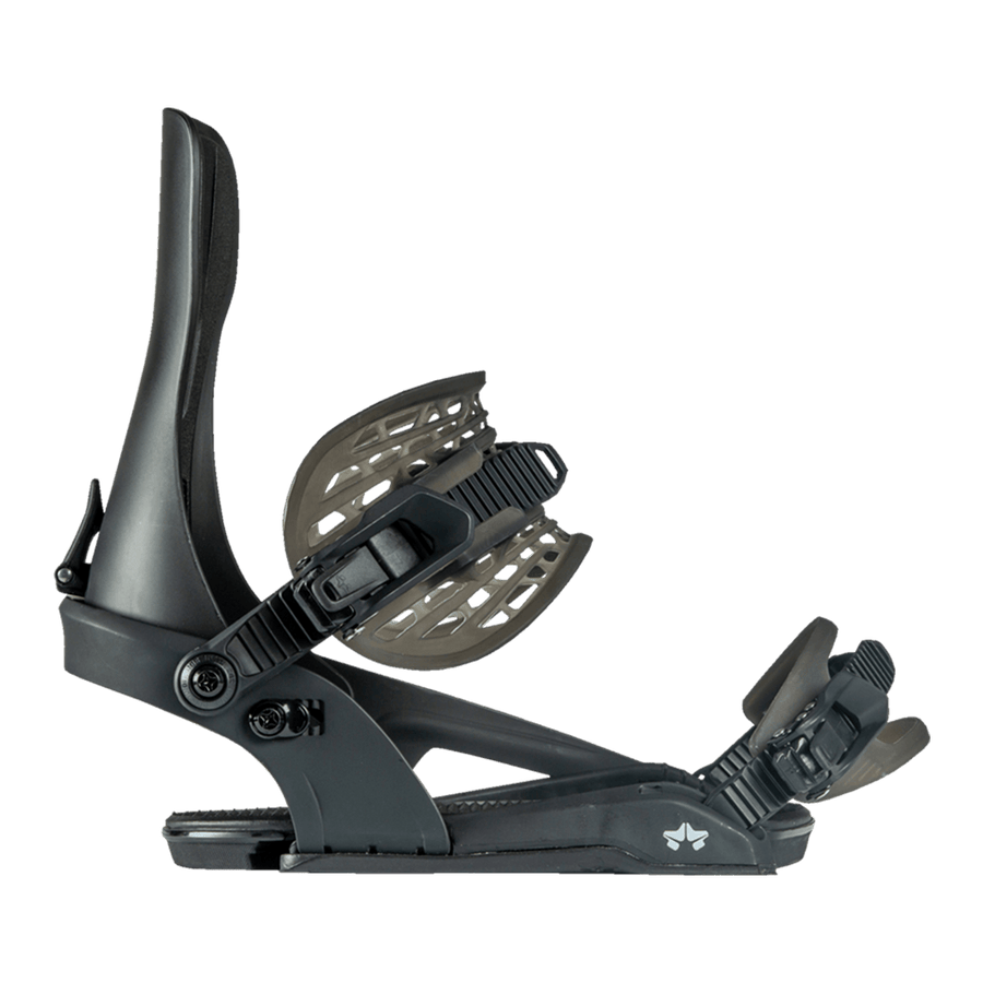 ROME Crux Snowboard Bindings Black 2021 SNOWBOARD BINDINGS - Men's Snowboard Bindings Rome