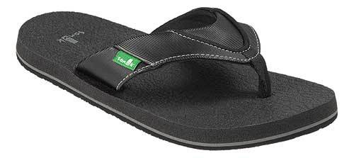 SANUK Root Beer Cozy Sandals Youth Black FOOTWEAR - Youth Sandals Sanuk