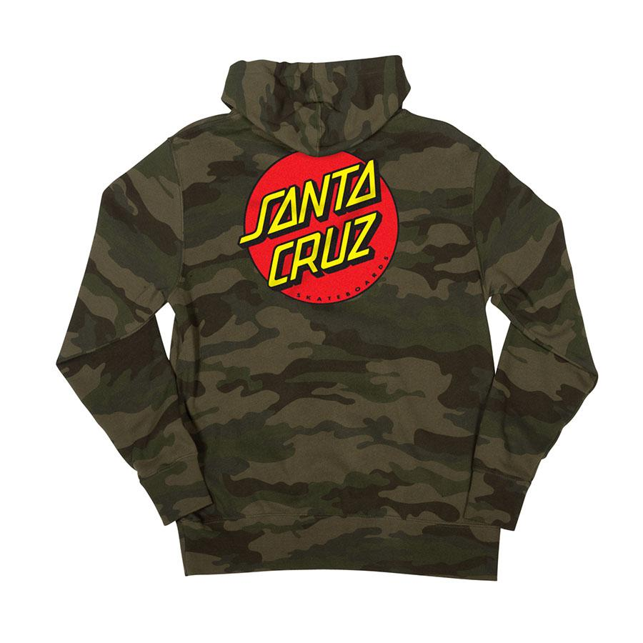 SANTA CRUZ Classic Dot Pullover Hoodie Forest Camo MENS APPAREL - Men's Pullover Hoodies Santa Cruz
