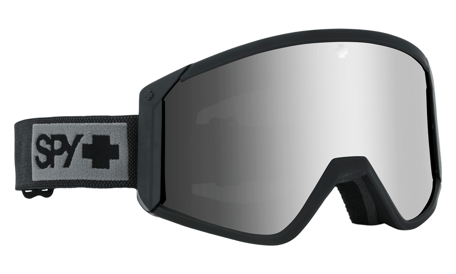 SPY Raider Matte Black - Happy Bronze with Silver Spectra + Persimmon Snow Goggle GOGGLES - Spy Goggles Spy