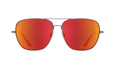 SPY Tatlow Matte Gunmetal - Happy Grey Green With Red Spectra Mirror Sunglasses SUNGLASSES - Spy Sunglasses Spy