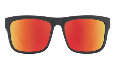 SPY Discord Soft Matte Dark Grey - Happy Grey Green With Red Spectra Mirror Polarized Sunglasses SUNGLASSES - Spy Sunglasses Spy