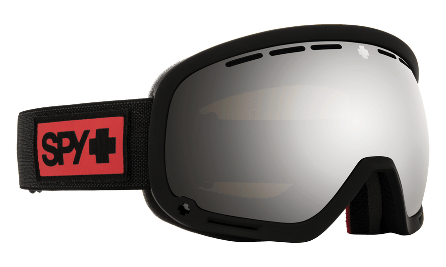 SPY Marshall Nightrider Matte Black - HD Plus Bronze with Silver Spectra Mirror + HD Clear Snow Goggle GOGGLES - Spy Goggles Spy