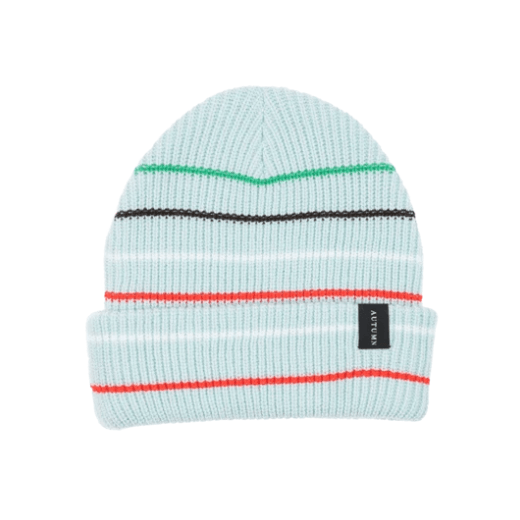 AUTUMN Select Multi Stripe Beanie Baby Blue MENS ACCESSORIES - Men's Beanies Autumn