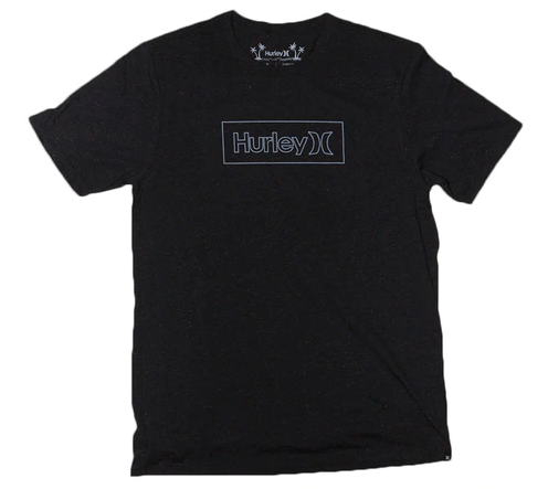HURLEY Rec One & Only Outline Boxed T-Shirt Black/Multi Colour MENS APPAREL - Men's Short Sleeve T-Shirts Hurley