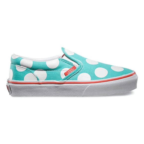 VANS Classic Slip On (Polka Dot) Shoes Kids Aqua Sky FOOTWEAR - Youth and Toddler Skate Shoes Vans 11