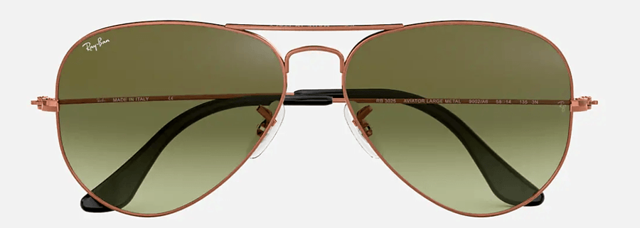 RAY-BAN Aviator Gradient Bronze Copper - Green Gradient Sunglasses SUNGLASSES - Ray-Ban Sunglasses Ray-Ban