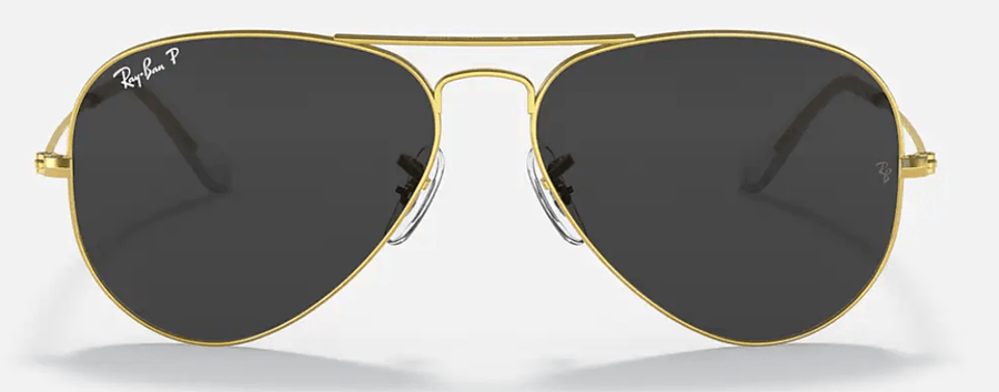 RAY-BAN Aviator Classic Gold - Black Classic Polarized Sunglasses SUNGLASSES - Ray-Ban Sunglasses Ray-Ban