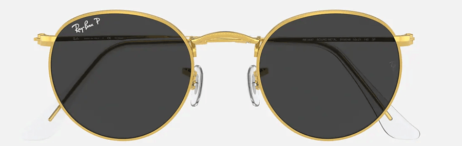 RAY-BAN Round Metal Classic Legend Gold - Black Polarized Sunglasses SUNGLASSES - Ray-Ban Sunglasses Ray-Ban