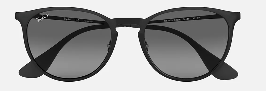 RAY-BAN Erika Metal Black - Grey Gradient Polarized Sunglasses SUNGLASSES - Ray-Ban Sunglasses Ray-Ban
