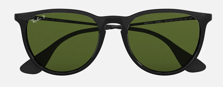 RAY-BAN Erika Classic Black - Green Classic G-15 Polarized Sunglasses SUNGLASSES - Ray-Ban Sunglasses Ray-Ban