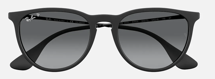 RAY-BAN Erika Color Mix Black - Grey Gradient Polarized Sunglasses SUNGLASSES - Ray-Ban Sunglasses Ray-Ban