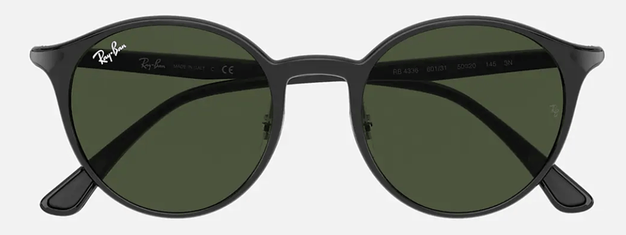 RAY-BAN RB4336 Black - Green Classic G-15 Sunglasses SUNGLASSES - Ray-Ban Sunglasses Ray-Ban