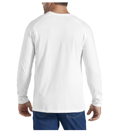 DICKIES Cooling Temp-iQ Performance L/S T-Shirt White MENS APPAREL - Men's Long Sleeve T-Shirts Dickies
