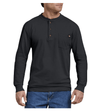 DICKIES Heavyweight Henley L/S Shirt Black MENS APPAREL - Men's Long Sleeve T-Shirts Dickies
